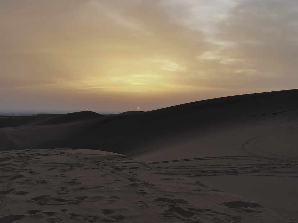 picture showing a desert sunrise