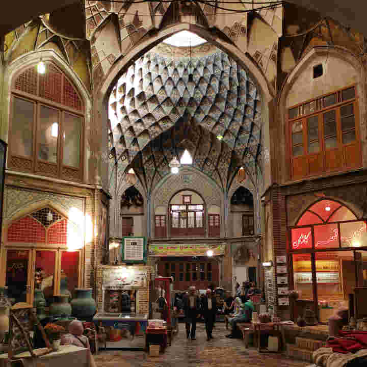 picture showing the interior of the Grand Bazaar of Kashan