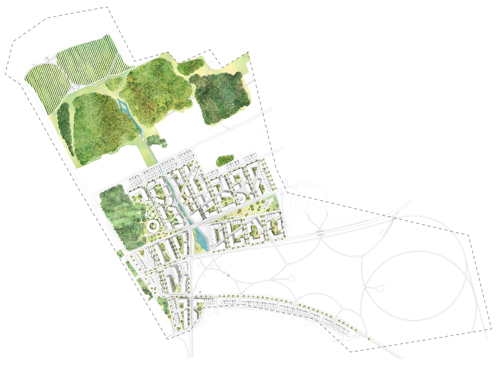 A thumbnail picture showing city plan of this project